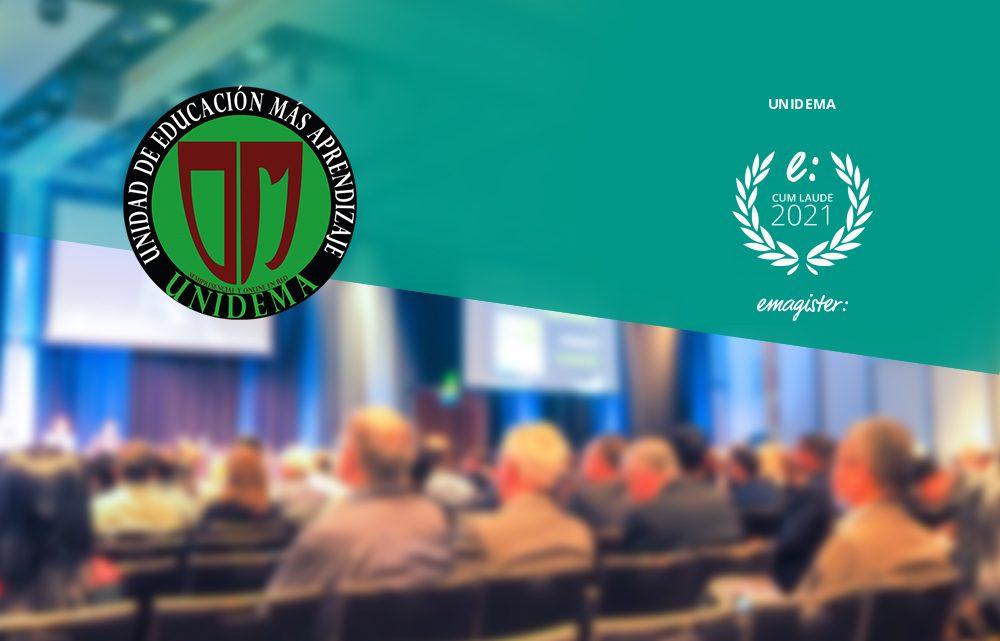 Unidema recibe el sello Cum Laude que premia las mejores escuelas de formación